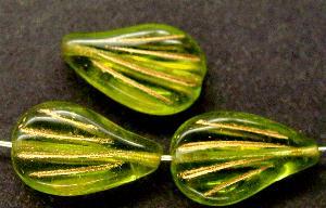 Best.Nr.:59035 vintage style Glasperlen , nach alten Vorlagen aus den 1930 Jahren neu gefertigt, mit Goldauflage