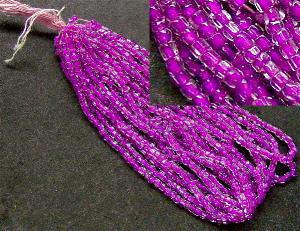 Best.Nr.:62065 3-Cutbeads in den1930/40 Jahren in Gablonz/Böhmen hergestellt kristall mit violettem Farbeinzug