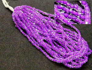 Best.Nr.:62061 3-Cutbeads in den1930/40 Jahren in Gablonz/Böhmen hergestellt kristall mit violettem Farbeinzug