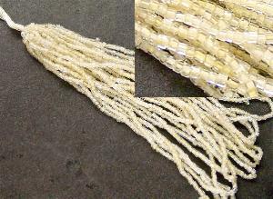 Best.Nr.:62066 3-Cutbeads in den1930/40 Jahren in Gablonz/Böhmen hergestellt kristall mit beigem Farbeinzug