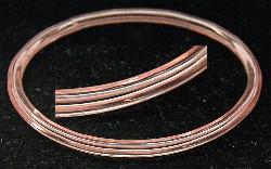 Best.Nr.:63083 Glasreifen ( bangeles ) Mit feinem Fadendecor um 1930 in Gablonz/Böhmen hergestellt