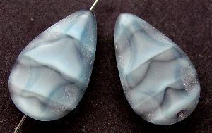 Best.Nr.:67700 Glasperle / Table Cut Beads geschliffen Tropfenform Rand mattiert (frostet)