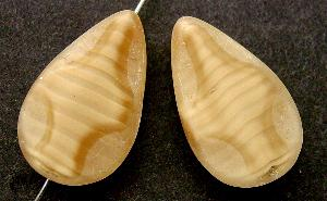 Best.Nr.:67707 Glasperle / Table Cut Beads geschliffen Tropfenform Rand mattiert (frostet)