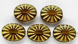 Best.Nr.:59205 Antikstyle Glasperlen, leicht mattiert mit Goldauflage
