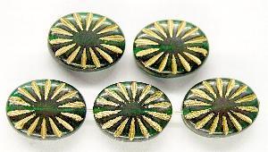 Best.Nr.:59042 Antikstyle Glasperlen, leicht mattiert mit Goldauflage