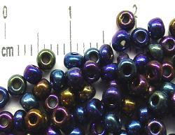 Best.Nr.:07016 Rocailles von Ornella Preciosa  blau metallic