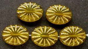 Best.Nr.:59131 Antikstyle Glasperlen, leicht mattiert mit Goldauflage