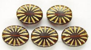 Best.Nr.:59156 Antikstyle Glasperlen, leicht mattiert mit Goldauflage