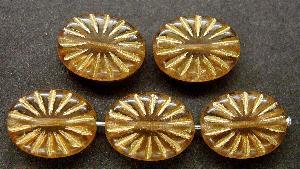 Best.Nr.:59130 Antikstyle Glasperlen, leicht mattiert mit Goldauflage
