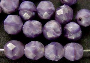 Best.Nr.:26388 facettierte Glasperlen Perlettglas violett