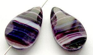 Best.Nr.:67711 Glasperle / Table Cut Beads geschliffen Tropfenform Rand mattiert (frostet)