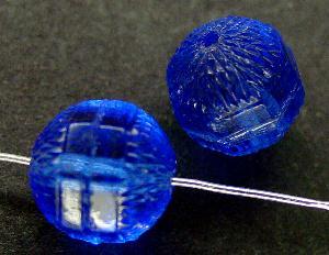 Best.Nr.:63356 Glasperlen in den 1920/30 Jahren in Gablonz/Böhmen hergestellt aqua