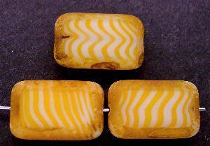 Best.Nr.:67376 große Glasperle / Table Cut Bead orange / geschliffen mit picasso finish