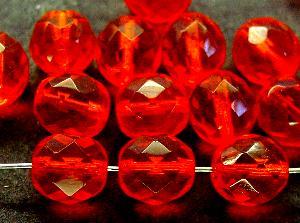 Best.Nr.:27479 facettierte Glasperlen orangerot