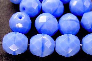Best.Nr.:26118 facettierte Glasperlen hellblau opak, Hergestellt in Gablonz / Tschechien