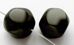 Best.Nr.:67318 Glasperlen / Table Cut Beads schwarz, geschliffen, Rand mattiert