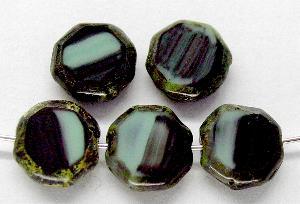 Best.Nr.:67387 Glasperlen / Table Cut Beads geschliffen mit picasso finish