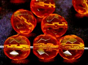 Best.Nr.:27092 facettierte Glasperlen orange