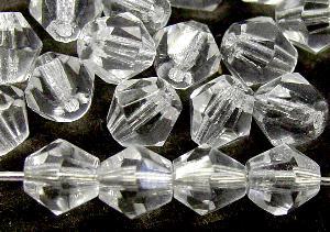 Best.Nr.:27480 facettierte Glasperlen bicon kristall