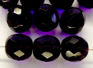 Best.Nr.:27066 facettierte Glasperlen dunkelviolett