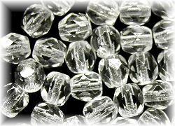 Best.Nr.:27085 facettierte Glasperlen kristall,  hergestellt in Gablonz Tschechien