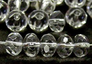 Best.Nr.:27491 Linse kristall mit facettiertem Rand