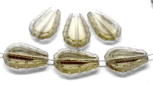 Best.Nr.:67806 Glasperlen / Table Cut Beads geschliffen, Rand mattiert (frostet), nach alten Vorlagen aus den 1930/40 Jahren neu gefertigt
