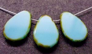 Best.Nr.:67825 Glasperlen / Table Cut Beads geschliffen Rand mit Travertin-Veredelung