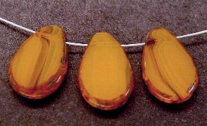Best.Nr.:67826 Glasperlen / Table Cut Beads geschliffen Rand mit Travertin-Veredelung