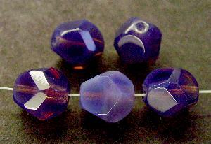 Best.Nr.:26418 geschliffene Glasperlen smokyviolett opal