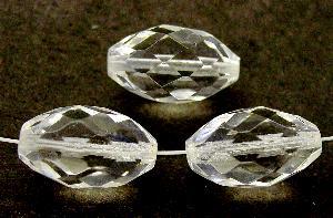 Best.Nr.:27432 Glasperlen geschliffen Oliven kristall