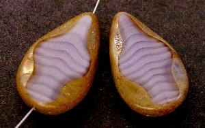 Best.Nr.:67831 Glasperle / Table Cut Beads geschliffen Tropfenform mit picasso finish
