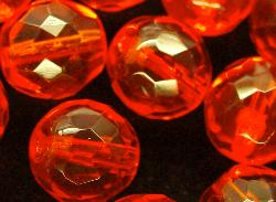 Best.Nr.:27304 facettierte Glasperlen orange