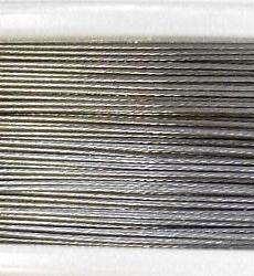 Best.Nr.:36034 Edelstahldraht  nylonummantelt, silber