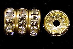 Best.Nr.:32033  Strassrondell  goldfarben  Strasssteinchen kristall