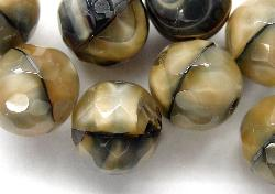 Best.Nr.:26100 facettierte Glasperlen  Perlettglas beige meliert