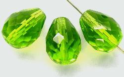 Best.Nr.:27330 facettierte Glasperlen  grün