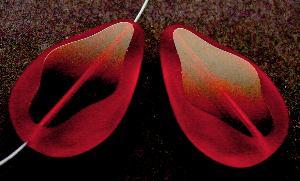 Best.Nr.:67522 Glasperle / Table Cut Beads geschliffen Tropfenform Rand mattiert (frostet)