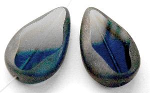 Best.Nr.:67687 Glasperle / Table Cut Beads geschliffen Tropfenform Rand mattiert (frostet)