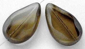 Best.Nr.:67813 Glasperle / Table Cut Beads geschliffen Tropfenform Rand mattiert (frostet)
