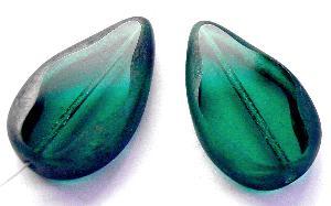 Best.Nr.:67811 Glasperle / Table Cut Beads geschliffen Tropfenform Rand mattiert (frostet)