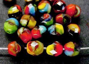 Best.Nr.:26280 facettierte Glasperlen multicolor