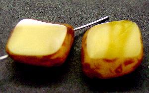 Best.Nr.:67895 Glasperle / Table Cut Beads geschliffen mit picasso finish