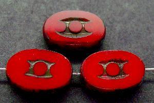 Best.Nr.:67900 Glasperlen / Table Cut Beads geschliffen mit Travertin-Veredelung, nach alten Vorlagen aus den 1930/40 Jahren neu gefertigt