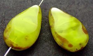 Best.Nr.:67892 Glasperle / Table Cut Beads geschliffen Tropfenform mit picasso finish