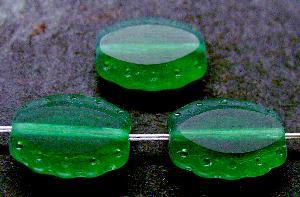 Best.Nr.:67909 Glasperlen / Table Cut Beads geschliffen, Rand mattiert (frostet), nach alten Vorlagen aus den 1930/40 Jahren neu gefertigt