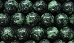 Best.Nr.:65-4970 Halbedelsteinperlen  aus Rainfrost Jade