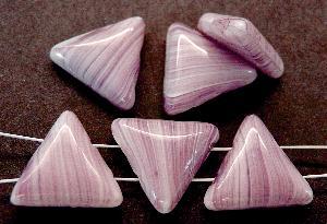 Best.Nr.:63385 Glasperlen mit 2 Löchern in den 1940/50 Jahren in Gablonz/Böhmen hergestellt violett weiß