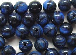 Best.Nr.:22472 Glasperlen blau schwarz meliert