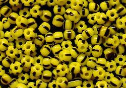 Best.Nr.:13036 Rocailles aus Gablonz / Böhmen  gelb schwarz gestreift